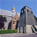 Martini church with separate belfry in Sneek Royalty Free Stock Images