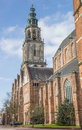 Martini church and tower in the center of Groningen Royalty Free Stock Photo