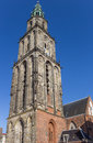 Martini church tower in the historical center of Groningen Royalty Free Stock Photo