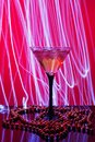 Martini glass and abstract light Royalty Free Stock Photo