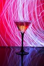 Martini glass with ice Royalty Free Stock Photo