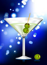 Martini glass with olives internet background Royalty Free Stock Photo