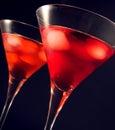 Martini glasses Royalty Free Stock Photo