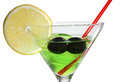 Martini in glasses and lime Stock Images