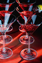 Martini glasses and liquor Stock Photos
