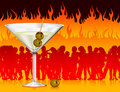 Martini in hell Stock Photography