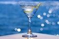 Martini on lake Royalty Free Stock Photo