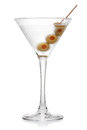 Martini with olives. Stock Image