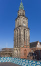 Martini tower and viewing platform in the center of Groningen Royalty Free Stock Photo