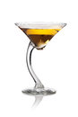Martini on a white background Stock Images