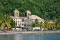 Martinique, picturesque city of Saint Pierre in West Indies Royalty Free Stock Photo