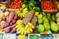 Martinique, picturesque market of Le Robert in West Indies Royalty Free Stock Photo