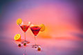 Martinis for two Royalty Free Stock Photo
