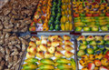 Martorana fruits at market stall Royalty Free Stock Photography