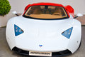 Marussia parked marrusia supercar in a parking from monte carlo Royalty Free Stock Images