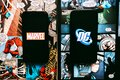 Marvel and DC comics logo. Royalty Free Stock Photo