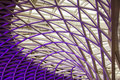 The marvellous kings cross ceiling architecture purple of station in london great britain Stock Photos