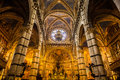 Marvelous dome of Siena cathedral masterpiece of italian Royalty Free Stock Photo