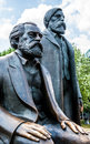 Marx and engels memorial for in berlin Stock Photos