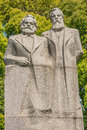 Marx and engels statue in fuxing park shanghai china popular republic of Royalty Free Stock Photo