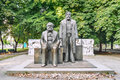 Marx and engels statues statue in forum alexanderplatz berlin germany Royalty Free Stock Photography