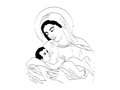 Mary and Baby Jesus Royalty Free Stock Photography