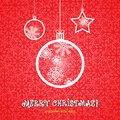 Mary christmas ornaments made from snowflakes illustration Royalty Free Stock Photos