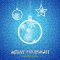 Mary christmas ornaments made from snowflakes illustration Royalty Free Stock Photo