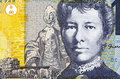 Mary gilmore on dollars banknote from australia australian socialist poet and journalist Stock Photo