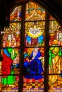 Mary Holy Spirit Stained Glass All Saints Castle Church Schlossk Royalty Free Stock Photo