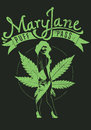 Mary jane vector illustration ideal for printing on apparel clothes Stock Photos