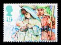 Mary and Joseph, Christmas 1994 - Children`s Nativity Plays serie, circa 1994 Royalty Free Stock Photo
