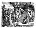 The Resurrection Of Lazarus Of Bethany Vintage Illustration