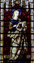 Mary (mother of Jesus) in stained glass Royalty Free Stock Photo
