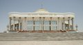 Mary turkmenistan marble building in city is located close to ancient merv historical sites located on the ancient silk road Royalty Free Stock Photo