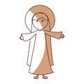 Mary virgin manger character Royalty Free Stock Photo