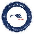 Maryland circular patriotic badge.