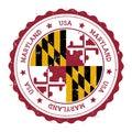 Maryland flag badge. Royalty Free Stock Photo