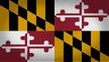Maryland flag Royalty Free Stock Photo