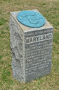 Maryland monument antietam nationellt stridfält Arkivfoto