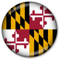 Maryland State Flag Button Royalty Free Stock Image