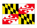 Maryland State Flag Vector Royalty Free Stock Photo