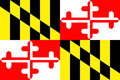 Maryland State Flag Royalty Free Stock Photo