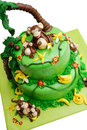 Marzipan cake Royalty Free Stock Photos