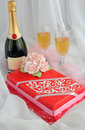 Marzipan cake with champagne Royalty Free Stock Image
