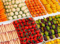 Marzipan fake fruits Stock Image
