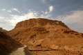 Masada. Ancient fortification in  Israel Royalty Free Stock Photo