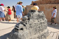 Masada fortress israel isr sep visitors at stronghold on september in judea desert considered as most popular tourist Royalty Free Stock Image