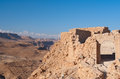 Masada fortress ruins Royalty Free Stock Images