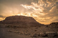 Masada israel site of the final accords of the first jewish roman war known as the siege of by troops of the roman empire on Stock Image